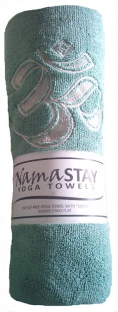 Check out this cool NamaSTAY Yoga Towel - it attaches to yoga mats.