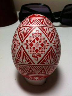 Chicken Egg Pysanky by PysankyByBekah on Etsy, $50.00