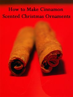 Making cinnamon scented Christmas ornaments is a fun activity for the whole family. You can make them most any shape or size and they are great gifts.