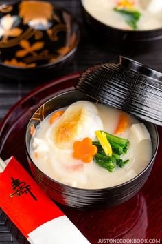 Ozoni - Japanese New Year's Soup (Kansai-Style) | Easy Japanese Recipes at JustOneCookbook.com