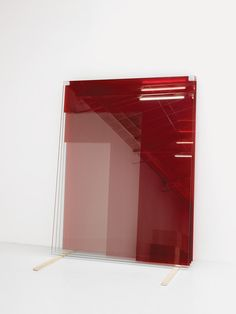 Armando Andrade Tudela Untitled (4 Glass Panes – Red) #red
