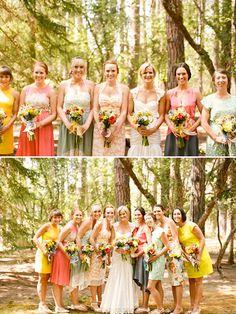 Colorful Outdoor Oregon Wedding