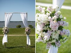 Ceremony florals that add just enough flair to the altar! | Inspired Photography by Susie & Becky