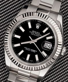 Rolex DateJust II 41MM with Black Dial.