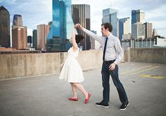Urban Dallas engagement shoot | photo by Lauren Apel Photo | 100 Layer Cake