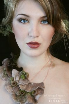 Hand Felted Lichen Necklace, Nature Sprits Collection, handmade to order by TrendeFemme, $125.00