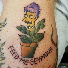 Little shop of horrors + Simpsons tattoo