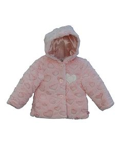 Look what I found on #zulily! Pink Heart Faux Fur Jacket - Infant & Toddler by Wippette #zulilyfinds