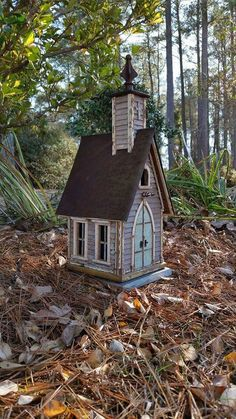 Little country church birdhouse. Created by Jefferson Garvey, Recycling is for the birds!