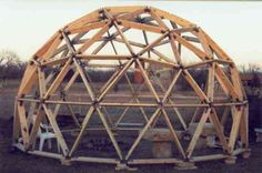 how to build a geodesic dome out of wood