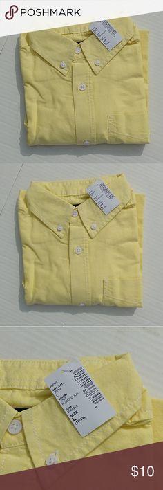 🆕 Button Down Shirt (Boys) NWT Boys Button Down Collar Dress in pastel yellow Children's Place Shirts & Tops Button Down Shirts