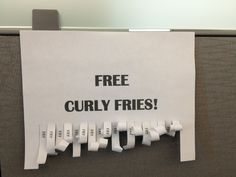 Office humor - Crafters In Disguise: Want Some Fries With That?
