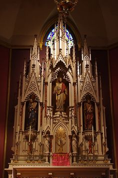 This is the stunning altar at Holy Family Catholic Church in Columbus, Ohio. The link takes you to the Wikimedia page.