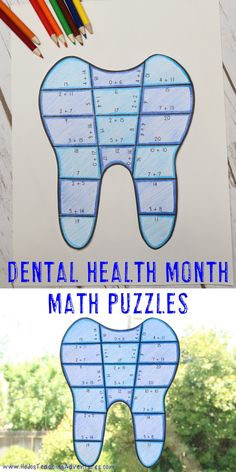 These Teeth Puzzles are great for Dental Health Month in February, math centers, review, early and fast finishers, GATE, & critical thinking skills. Any student that needs a lesson in perseverance will benefit from these puzzles. With this fun tooth format your students will stay engaged while practicing necessary skills! No prep option coming soon! Addition, subtraction, multiplication, and division mean extra math practice for your 1st, 2nd, 3rd, and 4th grade students. Dental Health Month, Fast Finishers, Math Books, Maths Puzzles, Critical Thinking Skills, Math Practices, Addition And Subtraction, Multiplication, Math Centers