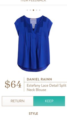 Jami,  I've purchased Daniel Rainn from Nordstrom before and it fits me well.   This color is super!  I love the bright jewel tones always and blue is always great with my eyes.  -