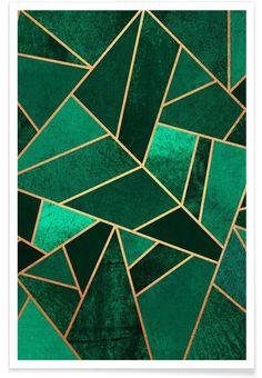Emerald and Copper en Affiche premium par Elisabeth Fredriksson | JUNIQE
