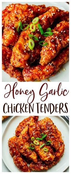 Honey Garlic Chicken - an easy chicken recipe loaded with flavor! Keep it sweet or add a little red pepper for the perfect sweet and spicy recipe. This recipe is great for dinner, as an appetizer, or even for meal prep. Honey Recipes, Spicy Recipes, Cooking Recipes, Budget Recipes, Top Recipes, Family Recipes, Meat Recipes, Pasta Recipes, Crockpot Recipes
