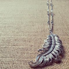 Silver Feather Necklace by SilverEstrellas, $26.00 www.SilverEstrellas.Etsy.com