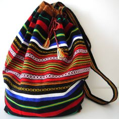 Tribal Fabric Backpack Latin American Peru by sweetllamasupplies, 22.00