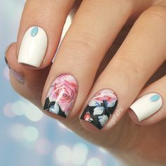 Nailpolis Museum of Nail Art | Rose Water decals by nagelfuchs