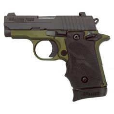 Sig Sauer P238 Army Green 380ACP SIGLITE Handgun, Reacting to many requests from the marketplace for a subcompact SIG SAUER pistol, engineers designed the new P238 as a smart looking, small handgun built with the