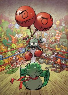 Here's my cover for Plants vs Zombies: Battle Extravagonzo! Plantas Versus Zombies, P Vs Z, Zombie 2, Fnaf, Art For Kids, Chibi, Cool Art, Cool Photos, Avengers