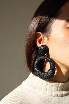 Black earrings by Bonsergent Studio