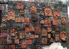 Terracotta wall murals in Molela, Rajasthan. Via Craft Canvas