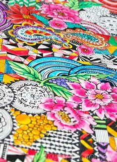 a peek inside my sketchbook- pattern mash up - alisaburke