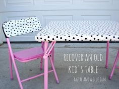 recover an old kids table