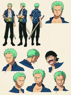 Roronoa Zolo / Roronoa Zoro Sheet, Character Design, Official Reference, Settei, Arlong Park