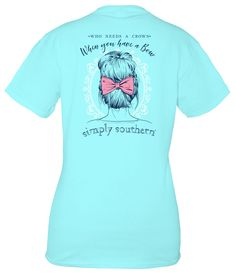 Simply Southern - Crown/Bow Short Sleeve Tee
