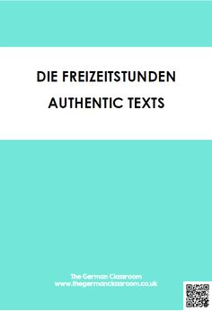Booklet of authentic texts with reading comprehension questions on the topic of free time and hobbies. Good for GCSE German!