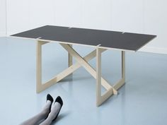 Looking for a nice minimalist desk? Switzerland based furniture manufacturer Colin SA created a plain desk, named T-723-X1, which is easy to move and simple to assemble. No tools or screws are needed to assemble the desk of FSC certified multiplex plywood.
