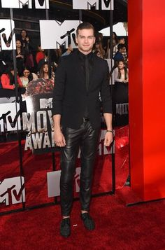 guys in leather pants. Mens Leather Pants, Tight Leather Pants, Mtv Movie Awards, Attractive Men, Mens Fitness, Celebrity Crush, Teen Fashion, People, Menswear