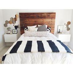Image of Black & White Pom Pom Moroccan Blanket