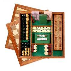 1fc61038ce0 Deluxe Game Compendium  Jaques  hand built polished Mahogany Games  compendium includes many wonderful and exciting family games.