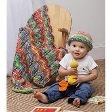 Chevron Striped Baby Blanket. Free pattern