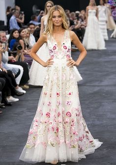 Bridget Malcom wears the Bridal Bibi Dress at the David Jones AW17 show