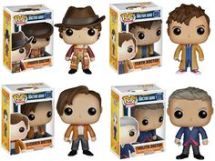 Funko Doctor Who POP TV Vinyl Collectors Set 4th, 10th , 11th , and 12th Doctor #Funko