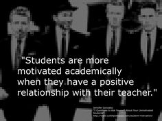 "https://flic.kr/p/DNkx6g | Educational Postcard:  ""Students are more motivated academically when they have a positive relationship with their teacher."" 