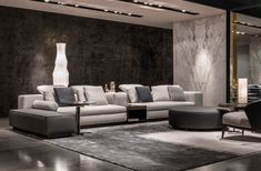 Opening of Minotti Miami Monobrand Store - The Luxonomist Living Room Grey, Living Room Sofa, Living Room Decor, Living Spaces, Patio Interior, Interior Design Living Room, Living Room Designs, Primitive Living Room, Cool House Designs