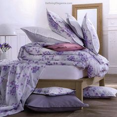 Alexandre Turpault Aquarelle Percale Cotton Duvet & Shams