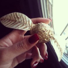 The Golden Snitch: I used a ping pong ball, white cardstock, hot glue and LOTS…