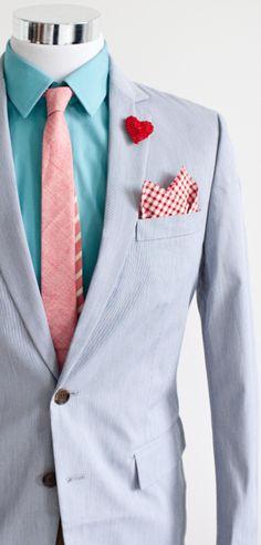 Fun colour scheme for a #groom