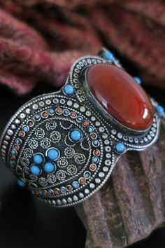 Unusual Contemporary Upper Arm Band with Uzbek Tribal Jewelry Styling.