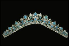 Marie Louise of France turquoise tiara, off the frame. It would be terrific as a necklace.