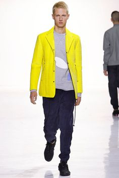 A look from the Tim Coppens Spring 2016 Menswear collection.