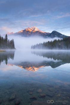 Mt Pyramid and Lake Pyramind (Jasper) by Adam Burton on 500px