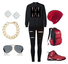 """""""Ice Cold"""" by coloraleigh on Polyvore featuring River Island, NIKE, Givenchy, Coal, Mémoire and Kenneth Jay Lane"""